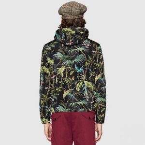 9f933fdd2 Gucci Jackets & Coats - New $1520 Gucci Black Tropical Nylon Jacket Small